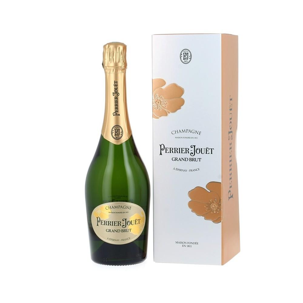 Champagne Brut Perrier-Jouët avec son étui