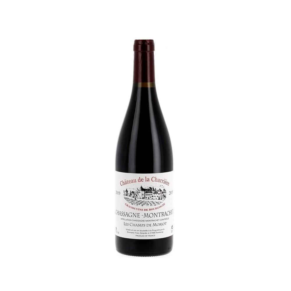 Vin rouge du château de la Charrière. Millésime 2019